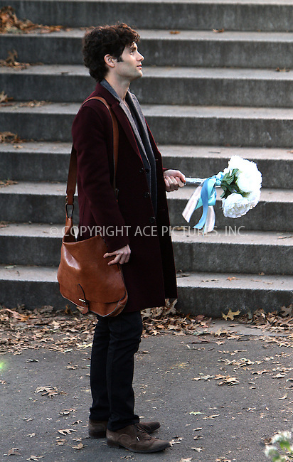 WWW.ACEPIXS.COM....October 11 2012, New York City....Actor Penn Badgley was on the Central Park set of the ..TV show 'Gossip Girl' on October 11 2012 in New York City......By Line: Zelig Shaul/ACE Pictures......ACE Pictures, Inc...tel: 646 769 0430..Email: info@acepixs.com..www.acepixs.com