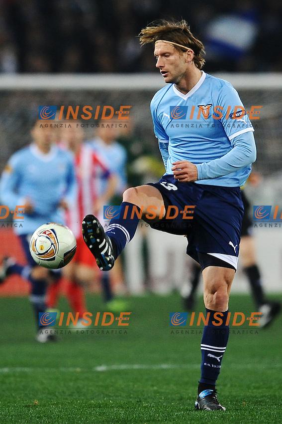 Marius Stankevicius Lazio.Roma 16/02/2012 Stadio Olimpico.Football Calcio 2011/2012 Europa League Round of 16.Lazio Vs Atletico Madrid 1-3.Foto Insidefoto Guido Aubry