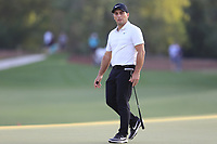 Francesco Molinari (ITA) on the 18th green during the 1st round of the DP World Tour Championship, Jumeirah Golf Estates, Dubai, United Arab Emirates. 15/11/2018<br /> Picture: Golffile | Fran Caffrey<br /> <br /> <br /> All photo usage must carry mandatory copyright credit (&copy; Golffile | Fran Caffrey)