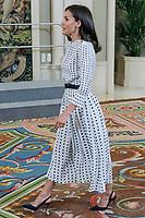 JUN 14 Queen Letizia At Zarzuela Palace