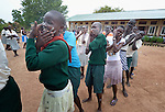Students perform a dance at the Loreto Secondary School in Rumbek, South Sudan. The girls' school is run by the Institute for the Blessed Virgin Mary--the Loreto Sisters--of Ireland.