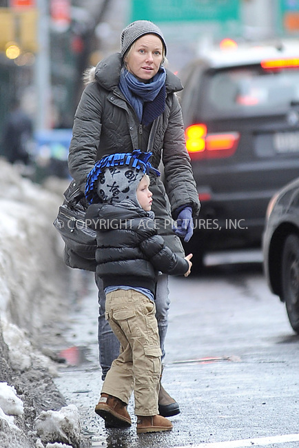 WWW.ACEPIXS.COM . . . . . .January 28, 2011...New York City...Naomi Watts and son Alexander Pete Schreiber on January 28, 2011 in New York City....Please byline: KRISTIN CALLAHAN - ACEPIXS.COM.. . . . . . ..Ace Pictures, Inc: ..tel: (212) 243 8787 or (646) 769 0430..e-mail: info@acepixs.com..web: http://www.acepixs.com .