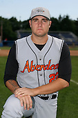 July 14th 2008:  Pitcher Anthony Kirbis of the Aberdeen Ironbirds, Class-A affiliate of the Baltimore Orioles, during a game at Dwyer Stadium in Batavia, NY.  Photo by:  Mike Janes/Four Seam Images