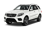 2017 Mercedes Benz GLE AMG-43 5 Door SUV Angular Front stock photos of front three quarter view