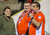 Blackpool fans arrive at the ground<br /> <br /> Photographer Alex Dodd/CameraSport<br /> <br /> EFL Checkatrade Trophy - Northern Section Group B - Accrington Stanley v Blackpool - Tuesday 3rd October 2017 - Crown Ground - Accrington<br />  <br /> World Copyright &copy; 2018 CameraSport. All rights reserved. 43 Linden Ave. Countesthorpe. Leicester. England. LE8 5PG - Tel: +44 (0) 116 277 4147 - admin@camerasport.com - www.camerasport.com