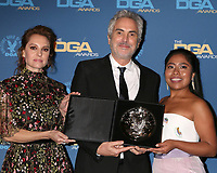 LOS ANGELES - FEB 2:  Marina de Tavira, Alfonso Cuaron, Yalitza Aparicio at the 2019 Directors Guild of America Awards at the Dolby Ballroom on February 2, 2019 in Los Angeles, CA