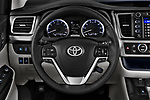 Car pictures of steering wheel view of a 2017 Toyota Highlander Limited-Platinum 5 Door SUV Steering Wheel