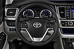 Car pictures of steering wheel view of a 2017 Toyota Highlander Limited-Platinum 5 Door SUV Steering Wheel