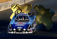 Jul. 25, 2014; Sonoma, CA, USA; NHRA funny car driver Robert Hight during qualifying for the Sonoma Nationals at Sonoma Raceway. Mandatory Credit: Mark J. Rebilas-