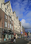 Historic buildings in Bryggen area, city centre of Bergen, Norway