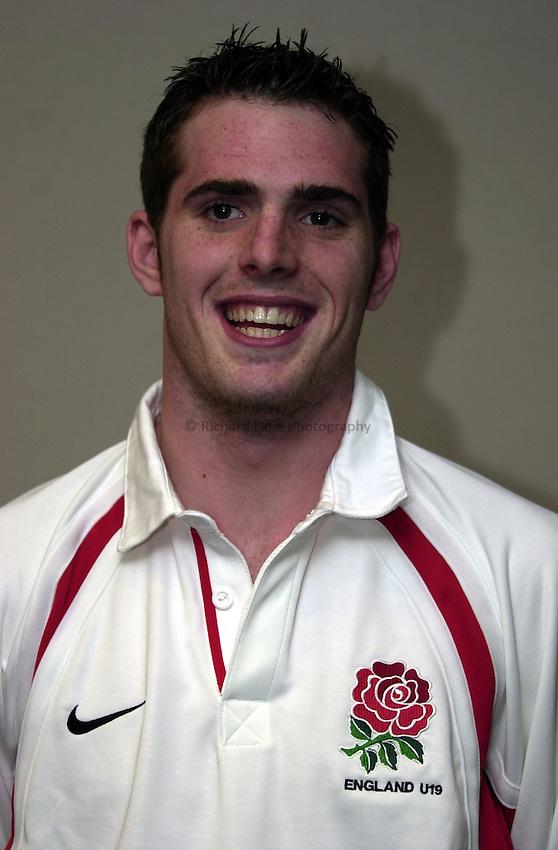 England Under 19's training.  Broadstreet RFC..Photo. Richard Lane..14-2-2002.Jon Clarke