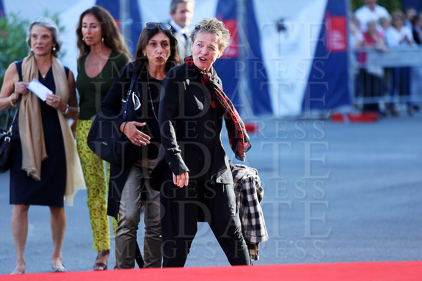 Laurie Anderson attends the red carpet for the premiere of the movie 'Heart Of A Dog' during the 72nd Venice Film Festival at the Palazzo Del Cinema on September 7, 2015 in Venice, Italy.<br /> UPDATE IMAGES PRESS/Stephen Richie