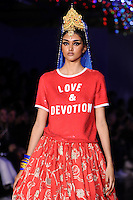 Neelam Gill on the catwalk<br /> at the Ashish catwalk show as part of London Fashion Week SS17, Brewer Street Car Park, Soho London<br /> <br /> <br /> &copy;Ash Knotek  D3155  19/09/2016