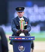 June 10th 2017, Edgbaston, Birmingham, England;  ICC Champions Trophy Cricket, England versus Australia; The ICC trophy is placed before the match