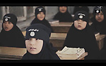 "A video of propaganda by ""Dash"" or ""Islamic State"" or ""ISIS"" is seen online on November 18, 2015. It shows young children being trained to sports, weapons and to Quran recitation in an undisclosed area somewhere between Syria and Iraq. Photo by Balkis Press/ABACAPRESS.COM  