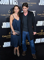 Claire Forlani &amp; Dougray Scott at the premiere of &quot;John Wick Chapter Two&quot; at the Arclight Theatre, Hollywood. <br /> Los Angeles, USA 30th January  2017<br /> Picture: Paul Smith/Featureflash/SilverHub 0208 004 5359 sales@silverhubmedia.com
