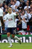 Erik Lamela of Tottenham Hotspur celebrates scoring the fourth goal  during Tottenham Hotspur vs Leicester City, Premier League Football at Wembley Stadium on 13th May 2018