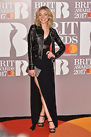Clara Paget<br /> The Brit Awards at the o2 Arena, Greenwich, London, England on February 22, 2017.<br /> CAP/PL<br /> &copy;Phil Loftus/Capital Pictures /MediaPunch ***NORTH AND SOUTH AMERICAS ONLY***