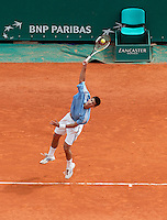 17-4-06, Monaco, Tennis,Master Series,   in action against Federer