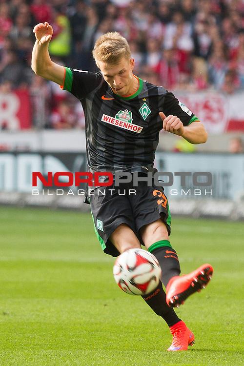 12.04.2015, Mercedes Benz Arena, Stuttgart, GER, 1.FBL,  VFB Stuttgart vs. SV Werder Bremen, im Bild Janek Sternberg (Bremen #37) <br /> <br />  Foto &copy; nordphoto / Straubmeier