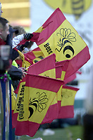 29/02/2004  -  Powergen  Cup - London Wasps v Pertemps Bees.Bees fans' show their flags'   [Mandatory Credit, Peter Spurier/ Intersport Images].