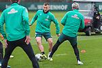 17.01.2020, Trainingsgelaende am wohninvest WESERSTADION,, Bremen, GER, 1.FBL, Werder Bremen Training ,<br /> <br /> <br />  im Bild<br /> <br /> Maximilian Eggestein (Werder Bremen #35)<br /> Claudio Pizarro (Werder Bremen #14)<br /> <br /> <br /> Foto © nordphoto / Kokenge