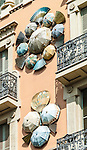 Casa Bruno Cuadros (House of Umbrellas) in Barcelona, Spain.<br />