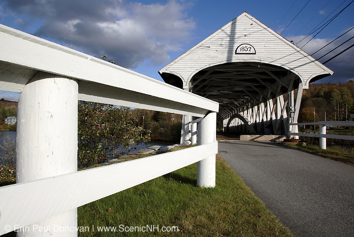 Groveton Covered Bridge in Groveton, New Hampshire USA