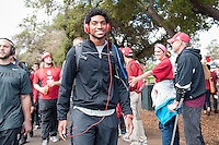 STANFORD, CA - OCTOBER 25, 2014:  Alex Carter during The Walk before Stanford's game against Oregon State. The Cardinal defeated the Beavers 38-14.