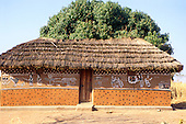Tembe to Ujiji, Tanzania. House with painted walls.