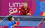 Curtis Caron competes in mens table tennis at the 2019 ParaPan American Games in Lima, Peru-22aug2019-Photo Scott Grant