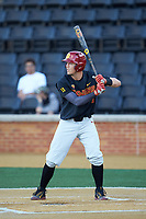 Lars Nootbaar (11) of the USC Trojans at bat against the Wake Forest Demon Deacons at David F. Couch Ballpark on February 24, 2017 in  Winston-Salem, North Carolina.  The Demon Deacons defeated the Trojans 15-5.  (Brian Westerholt/Four Seam Images)