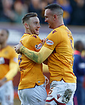 17.02.2019: Motherwell v Hearts: Allan Campbell and Tom Aldred