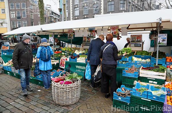 Nederland - Amsterdam 2018.  Biologische Markt op de Nieuwmarkt.  Foto Berlinda van Dam / Hollandse Hoogte