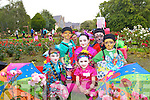 Overall winners of the Fancy Dress at Feile na mBlath in Tralee Town Park on Saturday were from left: Mhuire Kingston, Liam Kingston, Ciara Lynch, Megan Dillane, Tadgh Lynch and Cormac Riordan.