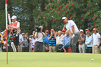 Matteo Manassero (ITA) on the 11th on the 1st day of the Omega European Masters, Crans-Sur-Sierre, Crans Montana, Switzerland..Picture: Golffile/Fran Caffrey..