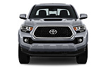 Car photography straight front view of a 2018 Toyota Tacoma TRD Sport Double Cab 4 Door Pick Up