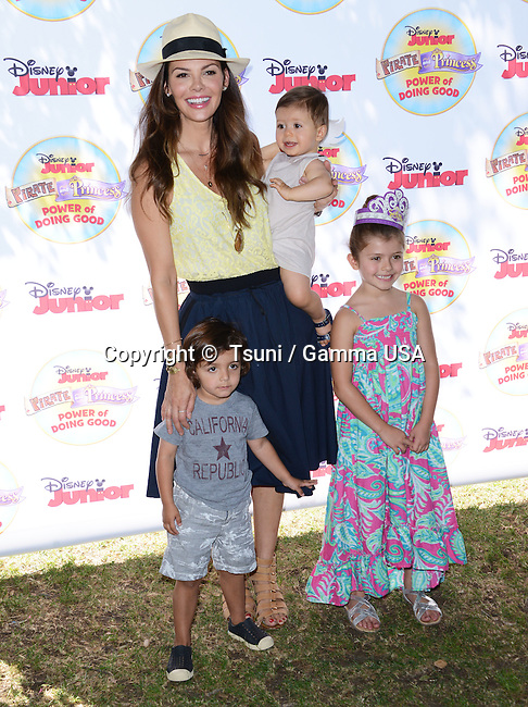 ALI LANDRY + ESTELA + VALENTIN 130  at the Pirate & Princess: Power of Doing Good tour at the Brookside park. in Pasadena.