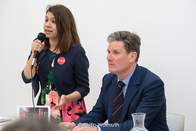 Tulip Siddiq MP and Kier Starmer MP.  Camden Labour Party manifesto launch for the May local government elections.