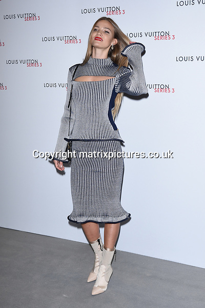 NON EXCLUSIVE PICTURE: MATRIXPICTURES.CO.UK<br /> PLEASE CREDIT ALL USES<br /> <br /> WORLD RIGHTS<br /> <br /> Guest attending the Louis Vuitton Series 3 Exhibition launch party, in London. <br /> <br /> SEPTEMBER 20th 2015<br /> <br /> REF: SLI 152927
