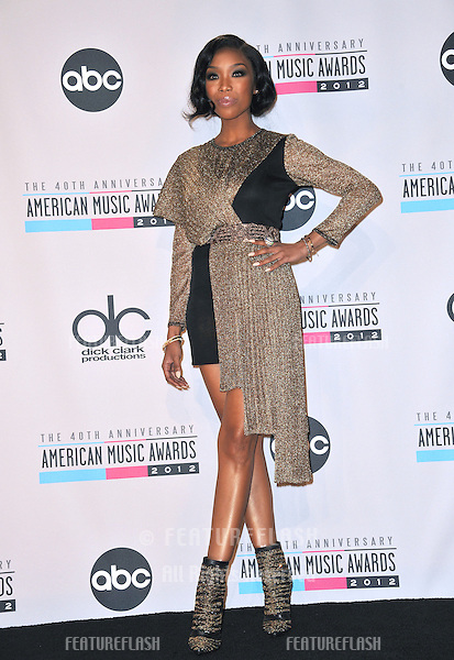 Brandy at the 40th Anniversary American Music Awards at the Nokia Theatre L.A. Live..November 18, 2012  Los Angeles, CA.Picture: Paul Smith / Featureflash