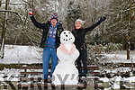 Kieran Costello and Grainne Ryan from Killarney making a snowman near Killarney Cathedral last Friday.