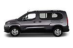 Car driver side profile view of a 2019 Peugeot Rifter GT-Line 5 Door MPV