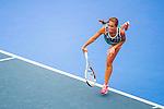 Luksika Kumkhum of Thailand vs Monica Puig of Puerto Rico during the WTA Prudential Hong Kong Tennis Open at the Victoria Pack Stadium on October 12 2015 in Hong Kong, China. Photo by Moses Ng / Power Sport Images