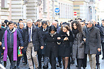 Funeral of Antonio Megalizzi in Trento, on December 20, 2018. Antonio Megalizzi is the 29-year-old Italian journalist who died after being wounded in the attack in Strasbourg, France on the evening of 11 December 2018. His family arrive for a last contemplation.
