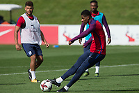 Marcus Rashford during the part open training session of the  England national football squad at St George's Park, Burton-Upon-Trent, England on 31 August 2017. Photo by James Williamson.