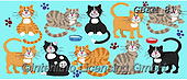 Kate, CUTE ANIMALS, LUSTIGE TIERE, ANIMALITOS DIVERTIDOS, paintings+++++Cats & dogs page 34 1,GBKM81,#ac#, EVERYDAY ,cat,cats ,puzzle,puzzles