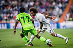 Marcelo Vieira Da Silva of Real Madrid in action during their 2016-17 UEFA Champions League match between Real Madrid vs Sporting Portugal at the Santiago Bernabeu Stadium on 14 September 2016 in Madrid, Spain. Photo by Diego Gonzalez Souto / Power Sport Images