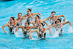 Japan team group (JPN), <br /> AUGUST 29, 2018 - Artistic Swimming : <br /> Women's Team Technical Routine <br /> at Gelora Bung Karno Aquatic Center <br /> during the 2018 Jakarta Palembang Asian Games <br /> in Jakarta, Indonesia. <br /> (Photo by Naoki Morita/AFLO SPORT)