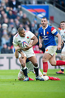 Twickenham, United Kingdom. 7th February, Kyle SINCKLER, running with the ball, during the England vs France, 2019 Guinness Six Nations Rugby Match   played at  the  RFU Stadium, Twickenham, England, <br /> &copy; PeterSPURRIER: Intersport Images